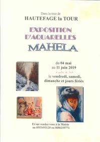 Exposition d'aquarelles Mahela
