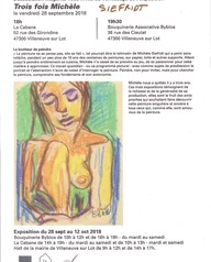 Exposition - vente des oeuvres de Michèle Siefridt à la Cabane