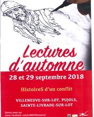 Lectures d'automne - Exposition