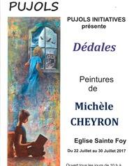 Exposition d'œuvres de Michèle Cheyron