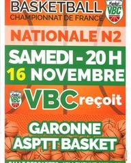 Basket - VBC reçoit Garonne ASPTT Basket