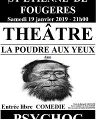 """Représentation théâtrale - La Poudre Aux Yeux présente """"Psychoc"""""""
