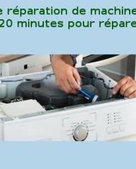 120 minutes pour réparer votre machine à laver