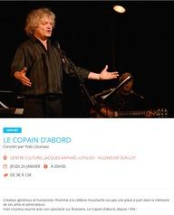 VilleneuVoix les concerts : Le copain d'abord, Yves Uzureau