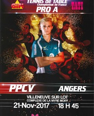 Championnat de France Tennis de Table Pro A PPCV vs Angers