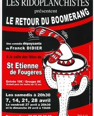 """Les ridoplanchistes présentent """"Le retour du boomerang"""""""