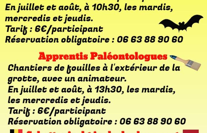 Atelier les apprentis paléontologues 1 - Sainte-Colombe-de-Villeneuve