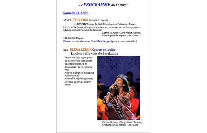 Festival des musiques sacrées du monde 3 - Saint-Antoine-de-Ficalba